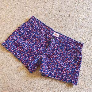 Corduroy Floral Shorts